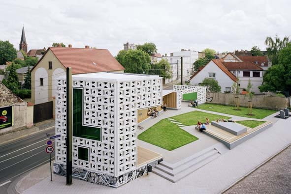 Otwarta Biblioteka, Lesezeichen Salbke, Magdeburg, proj. Karo Architekten