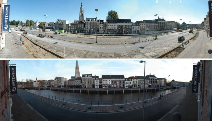 Dawną rzekę w holenderskiej Bredzie po prostu odkopano. Dokonano tego przy wsparciu rządowego programu 'Przestrzeń dla Rzek', fot. citypolska.com
