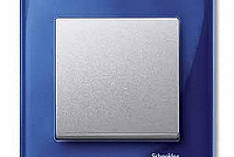 WYŻSZA CENA Merten M Elegance/Schneider electric; łącznik pojedynczy, klawisz tworzywo sztuczne ramka barwione szkło Cena: ok. 109 zł