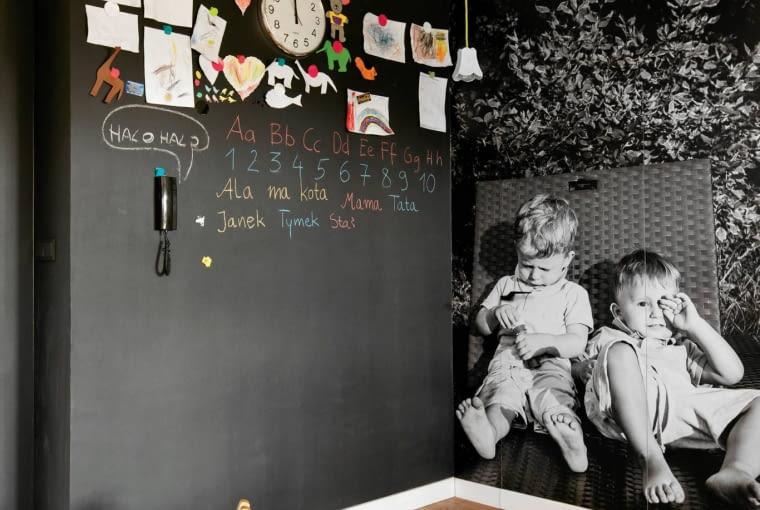 ściany, salon, farba tablicowa
