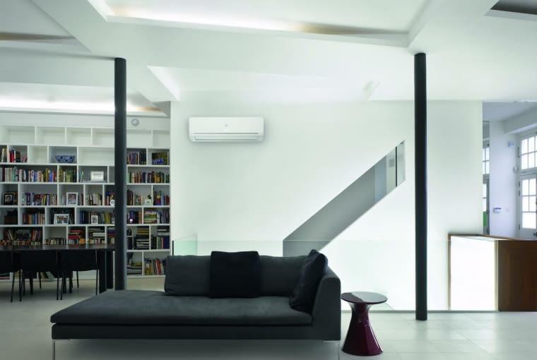 klimatyzacja, salon, schody