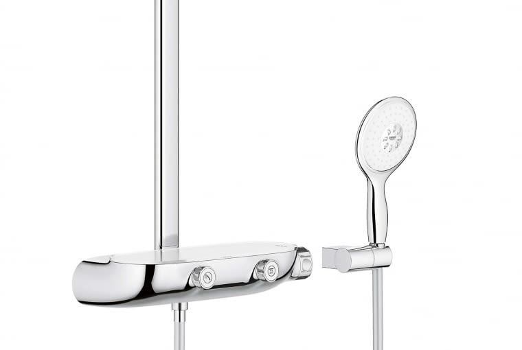 360 MONO, ścienna, z natynkową baterią termostatyczną i rączką prysznicową, mosiądz i chrom, śr. 22 cm 4063 zł Grohe