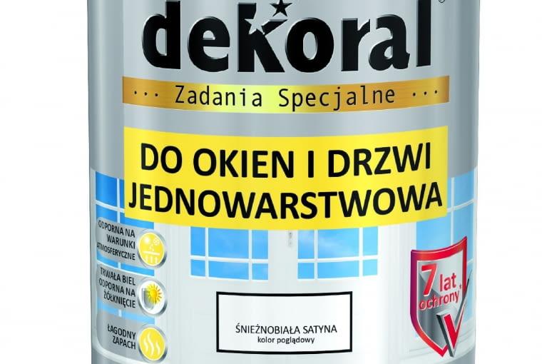 DO OKIEN I DRZWI, ftalowa 29,11 zł/0,65 l Dekoral
