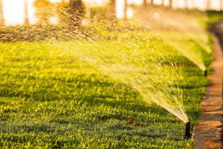 Automatyczne podlewanie pomaga utrzymać trawnik w dobrej kondycji