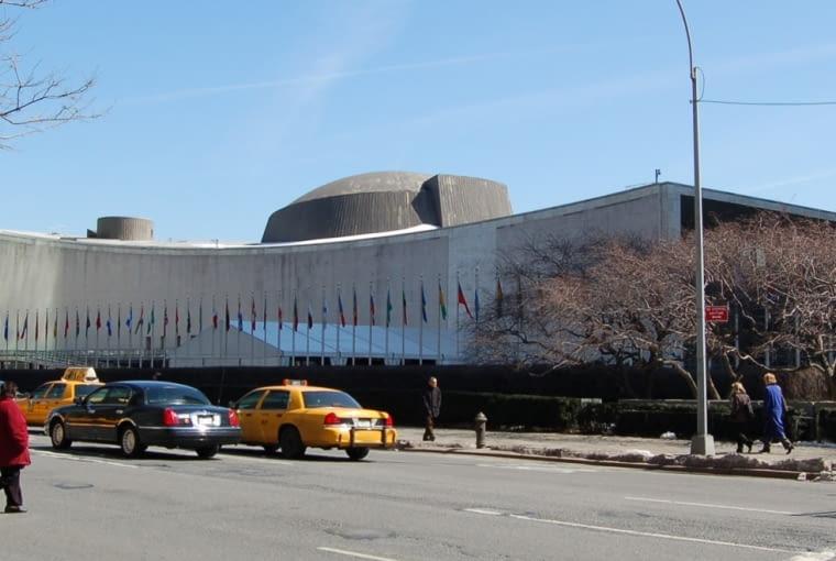 Siedziba Generalna Organizacji narodów Zjednoczonych (ONZ) w nowym Jorku projektu Le Corbusiera i Oscara Niemeyera