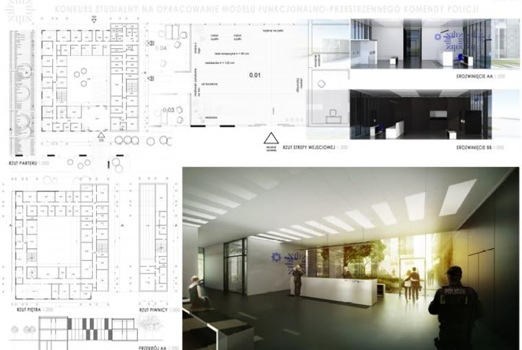 Projekt studialny modelu funkcjonalno-przestrzennego komend i komisariatów Policji, praca zwycięska