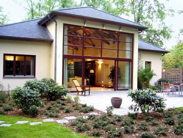 duże okna, projekty domów