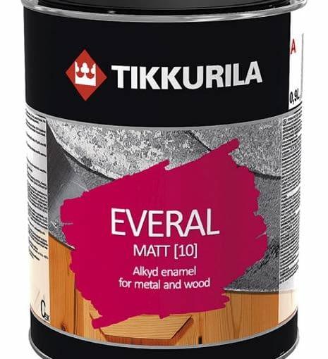 Farba do drewna. Everal Matt Szybkoschnąca matowa emalia do zabezpieczania drewna i metalu. Długo zachowuje intensywną barwę. Cena: 37 zł/0,9 l