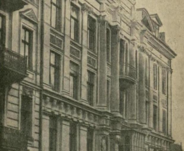 Pierwotny wygląd kamienicy przy ul. Świętej Barbary 4 w Warszawie