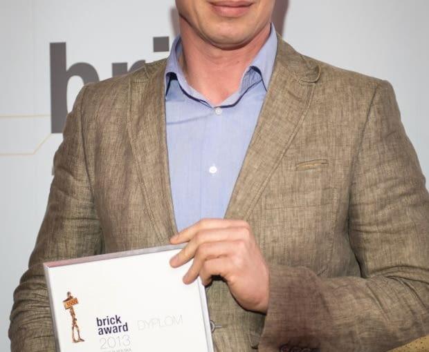 Zbigniew Maćków podczas gali rozdania nagród Brick Award 2012