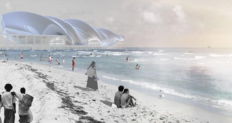 Jak podkreśla młody architekt, inspiracje zaczerpnął on także z wizjonerskich projektów brazylijskiego architekta Oscara Niemeyera.