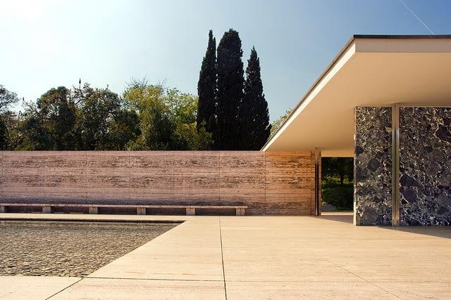 Pawilon w Barcelonie, proj. Mies van der Rohe, 1929 rok