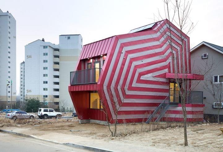 Dom jednorodzinny w mieście Giheung-Gu, w Korei Południowej