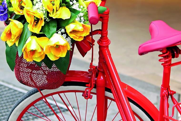 Ach, pojechałoby się gdzieś za miasto! Skoro jednak rower do tego już się nie nadaje, można go zamienić wkwietnik ipostawić przed domem.