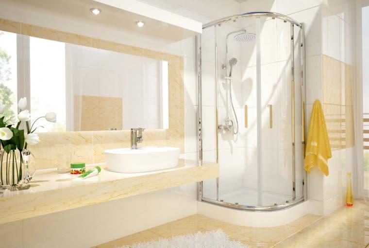 Ścianki kabiny spełniają funkcję użytkową, chroniąc łazienkę przed zalaniem, ale mają też wpływ na estetykę wnętrza