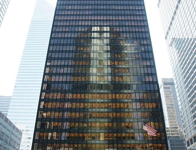 Seagram Building, Nowy Jork, fot. Noroton, Wikimedia, zdjęcie w domenie publicznej