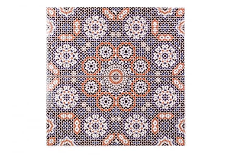 Marokańska płytka ścienna, Bandar, Kolory Maroka