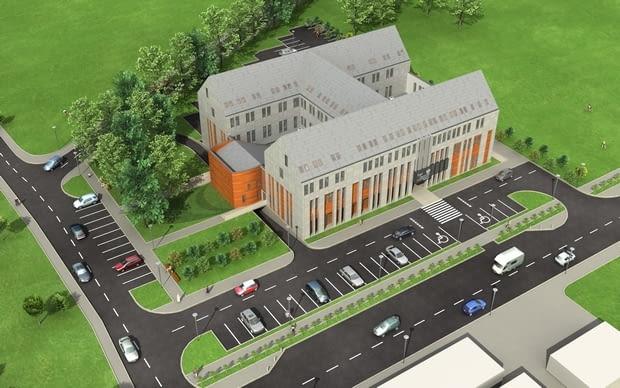 Budynek Sądu Rejonowego w Ząbkowicach Śląskich - wizualizacja