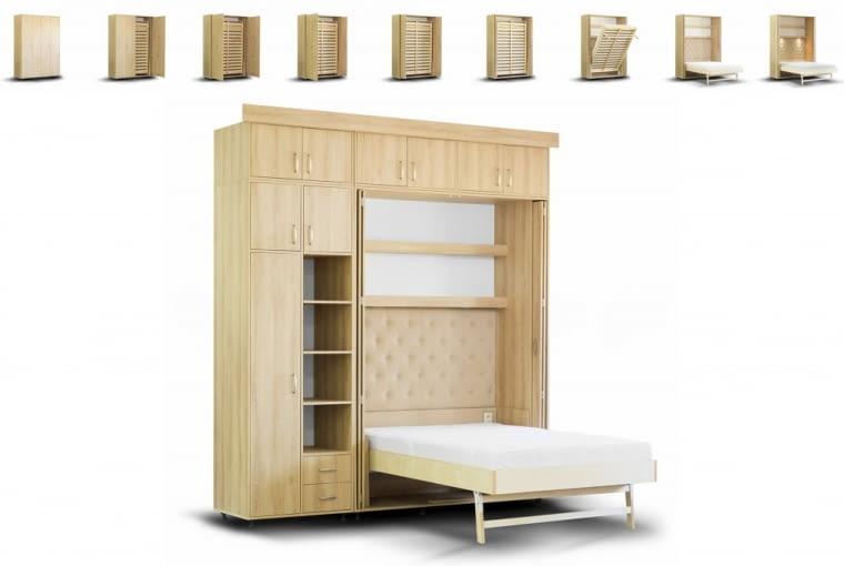 Łóżko chowane w szafie, bedrobe.pl