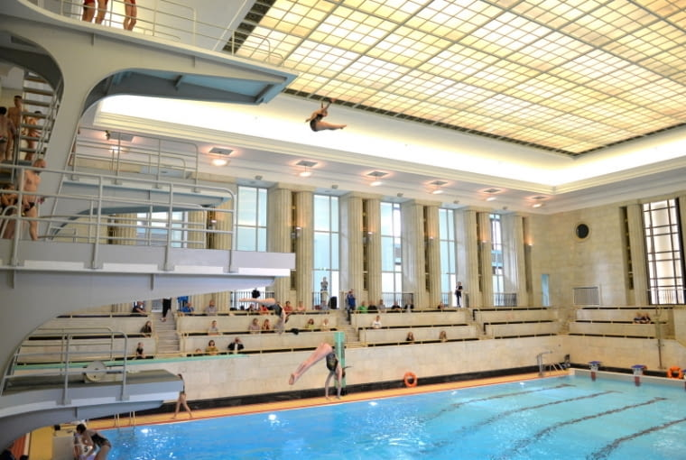 Otwarcie wyremontowanego basenu w Pałacu Kultury i Nauki