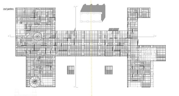 Adaptacja Podziemi Pałacu Saskiego na siedzibę Muzeum Utraconego - rzut parteru