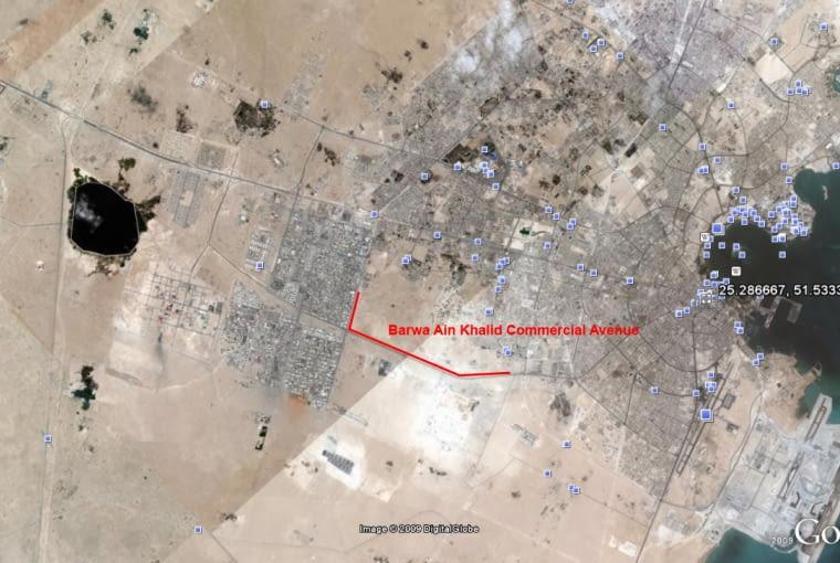 Barwa Ain Khalid Commercial Avenue, ciekawostki, doha, katar, centrum handlowe, największe, aecom