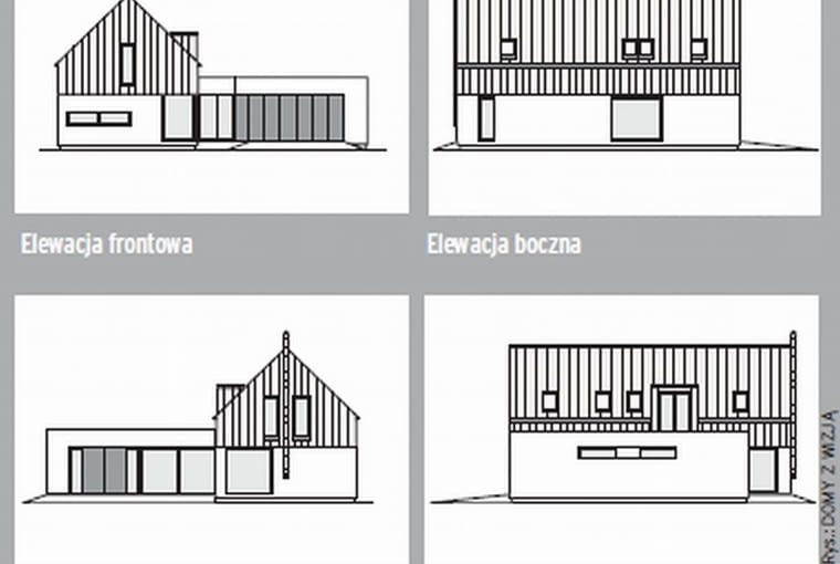 elewacja, projekt domu