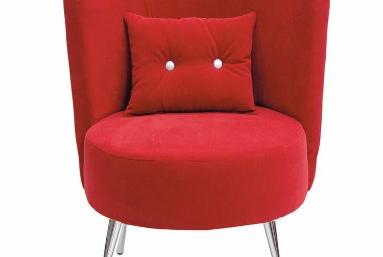 Fotele do 1000 zł: fotel Cubi red, wobeline.pl