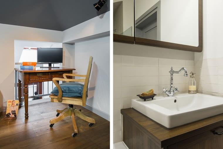 Designerski, drewniany fotel