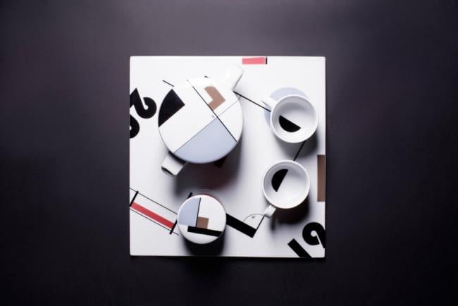 Zestaw kawowy 'Bauhaus memory'. Proj. Marek Cecuła