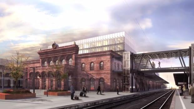 Wizja przebudowy Dworca Głównego w Poznaniu przygotowana przez Pracownię Architektoniczną Ewy i Stanisława Sipińskich
