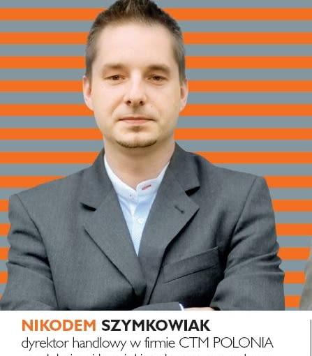 Nikodem Szymkowiak - dyrektor handlowy w firmie CTM POLONIA produkującej kominki z płaszczem wodnym