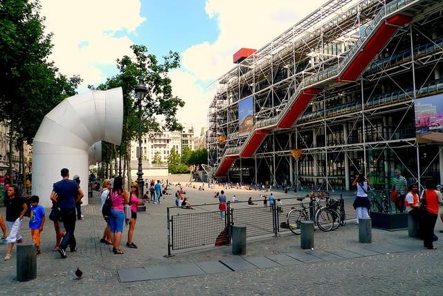Centrum Pompidou w Paryżu, proj. Renzo Piano i Richard Rogers