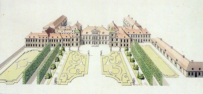Pałac Saski w XVIII wieku