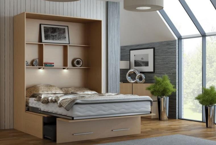 Łóżko chowane w szafie, stelar.pl