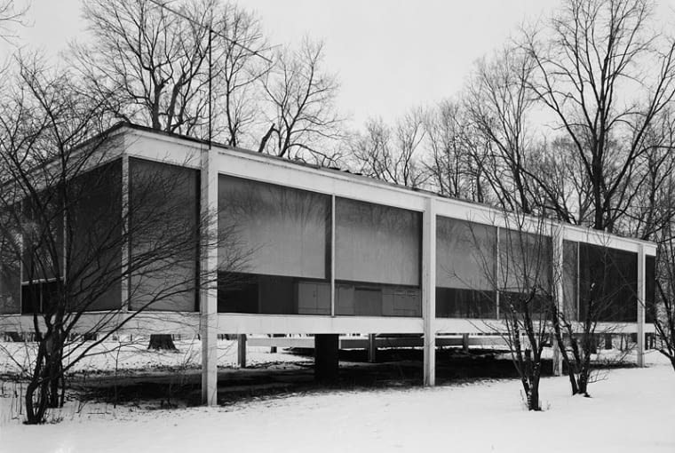 Mies van der Rohe, Farnsworth House w Fox River
