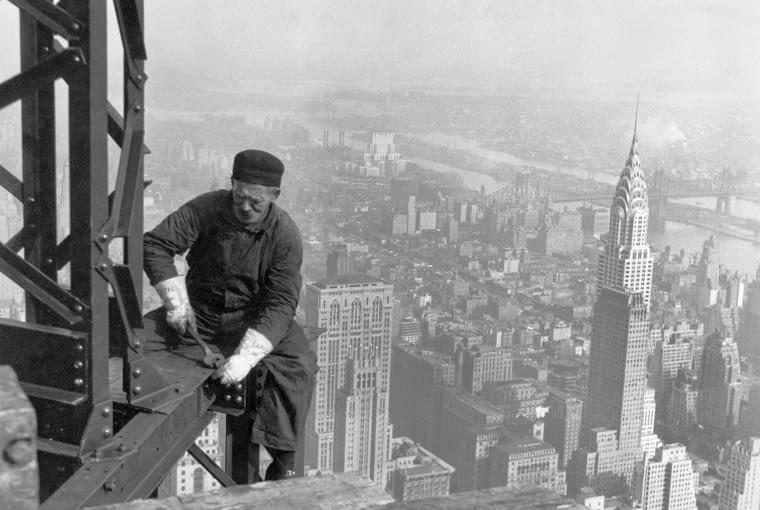 Chrysler Building Nowy jork, empire state building, wiezowcem budowa