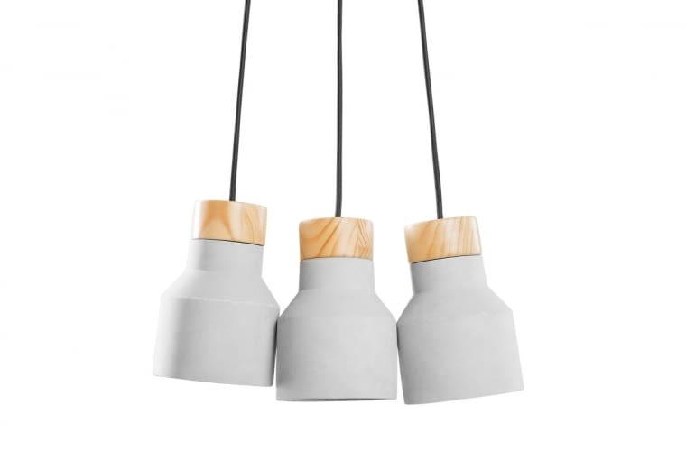 Lampy BAHT, beton i drewno, 199 zł, Beliani