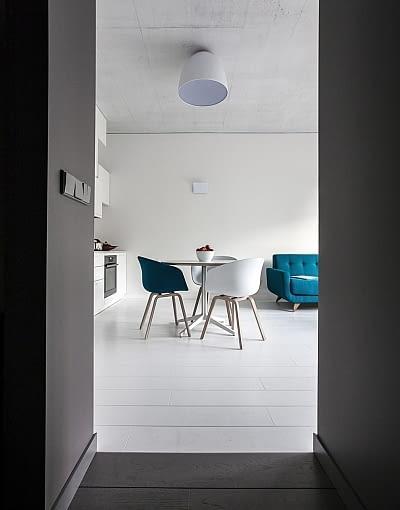 małe mieszkanie, nowoczesne mieszkanie, nowoczesne wnętrze, jasne mieszkanie