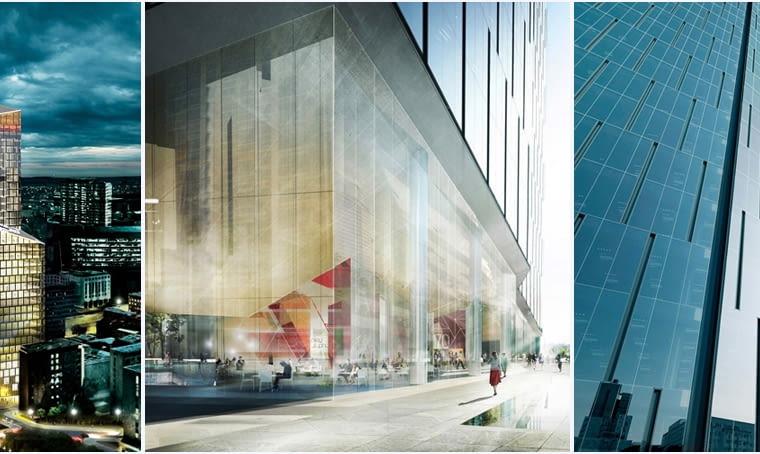 Warsaw One - nowy wieżowiec przy rondzie ONZ w Warszawie