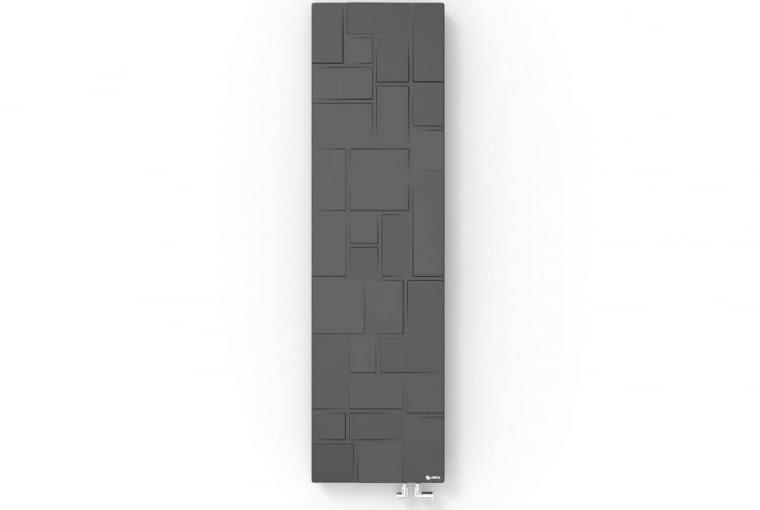 Fiszka/LOSTA | Naścienny | wymiary [cm]: wys. 180, szer. 50; | materiał: kompozyt mineralny | maks. temp.: 95oC | pow. grzewcza: 2,1 m2 | masa: 82 kg | produkty dostępne w czterech kolorach, a na specjalne zamówienie w pełnej palecie RAL. Cena: ok. 7300 zł, www.losta.pl