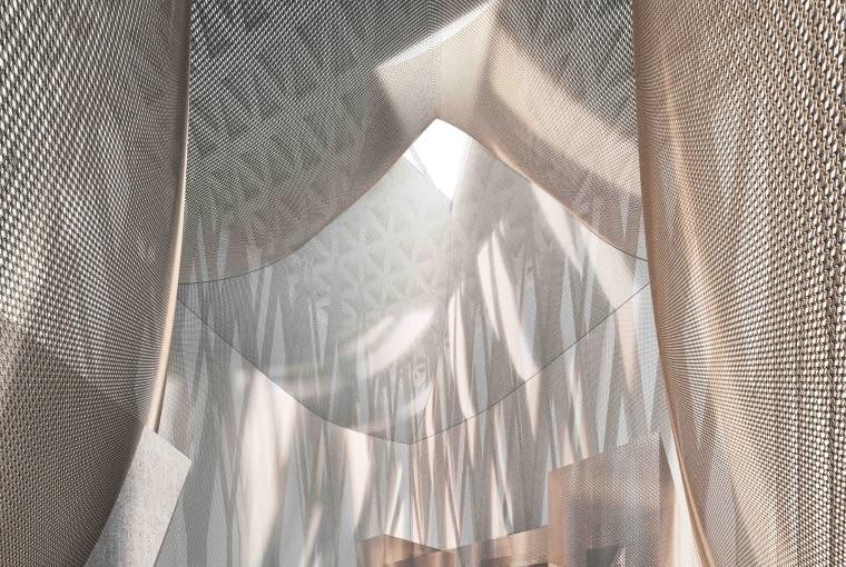 Dom Abrahama w Abu Zabi - synagoga. Proj. Adjaye Associates