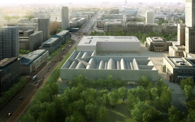 Tak miało wyglądać Muzeum Sztuki Nowoczesnej - widok od strony parku Świętokrzyskiego