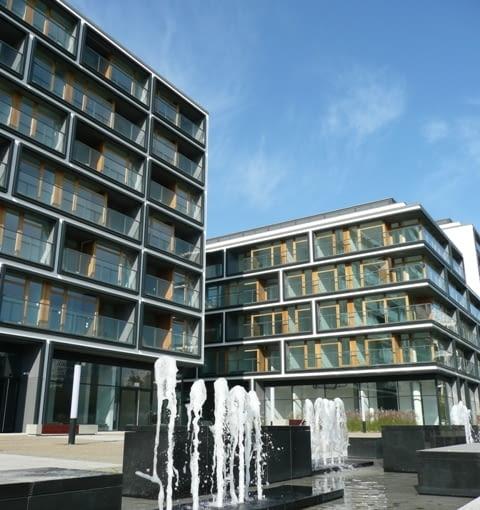 19 Dzielnica- zespół zabudowy mieszkaniowej przy ul. Siennej w Warszawie autorstwa pracowni JEMS Architekci.