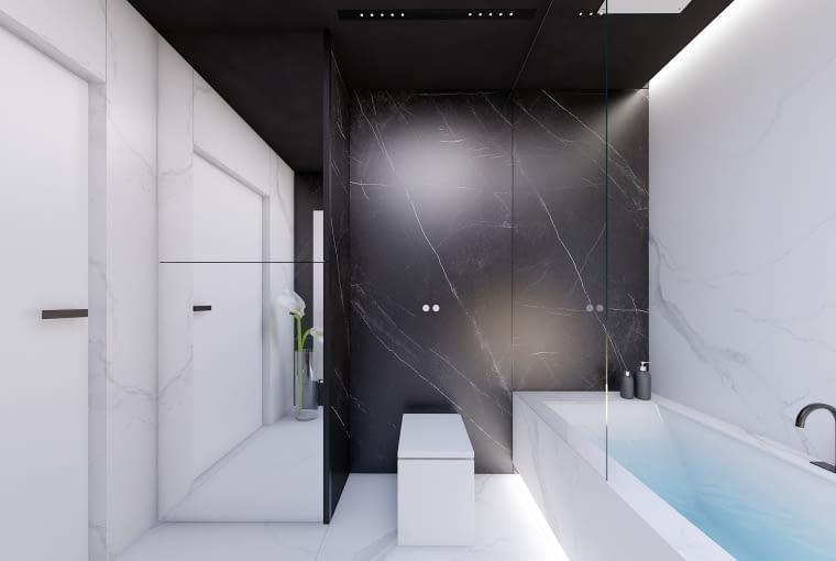 Wnętrze łazienki w domu podwójnym