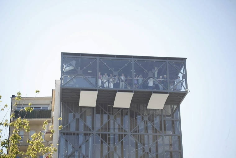08.06.2013 Gdynia , otwarcie infoboxu na swerrze Zeromskiego FOT. Rafal Malko/Agencja Gazeta