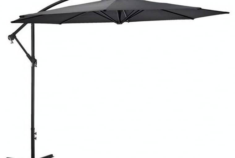 Parasol na wysięgniku, średnica 300 cm. Konstrukcja aluminiowa, poszycie z poliestru; 269 zł