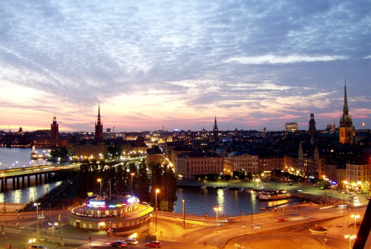 Sztokholm nocą, źródło: wikipedia.org