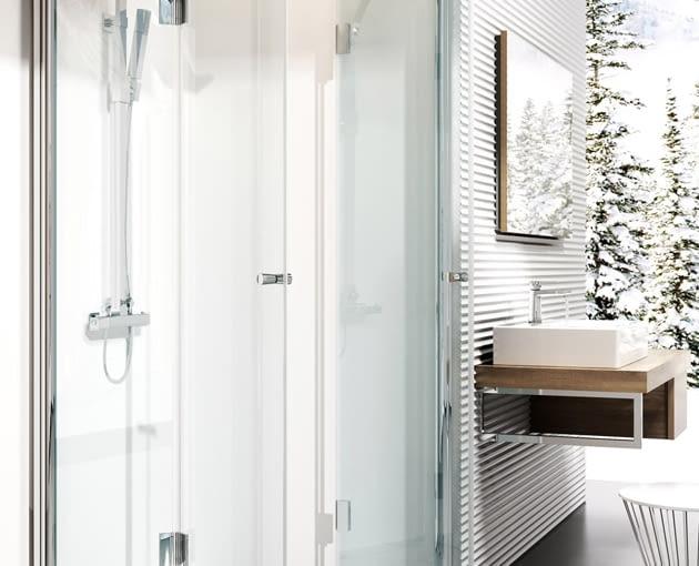 kabina prysznicowa, prysznic, składane drzwi kabiny