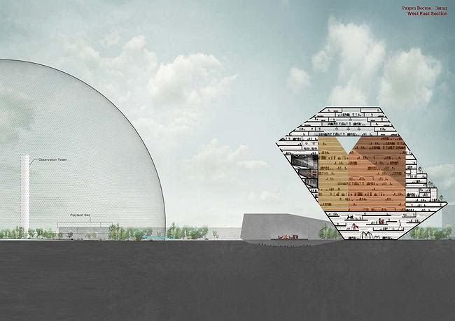 Kubiki - centrum kulturalno-rozrywkowe, proj. Renier de Graaf, OMA, źródło: http://archi.ru